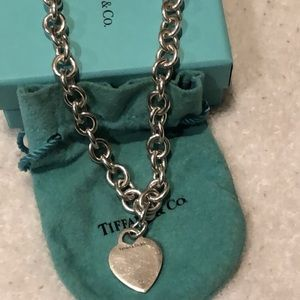 Tiffany's Silver heart necklace